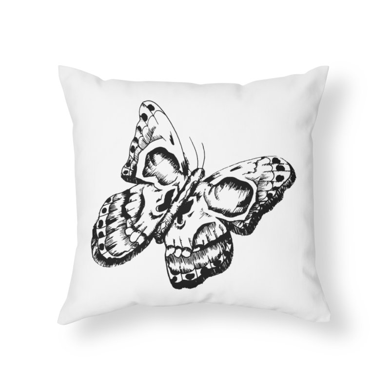 death flutterby Home Throw Pillow by joe's shop