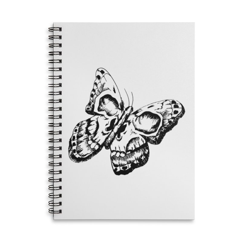 death flutterby Accessories Lined Spiral Notebook by joe's shop