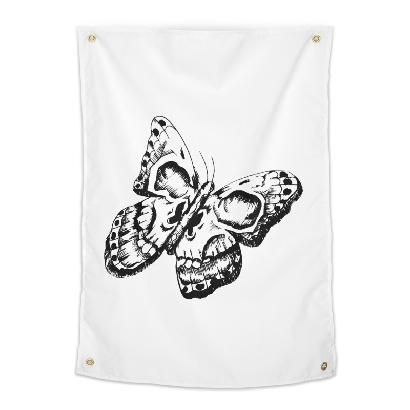 death flutterby Home Tapestry by joe's shop