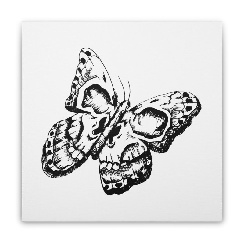 death flutterby Home Stretched Canvas by joe's shop
