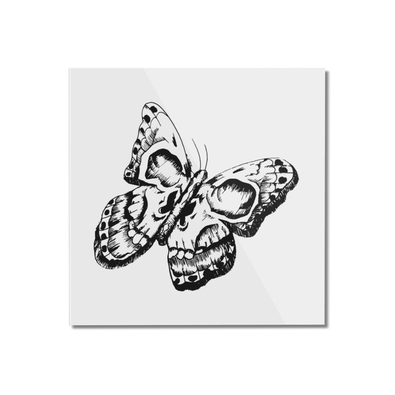death flutterby Home Mounted Acrylic Print by joe's shop