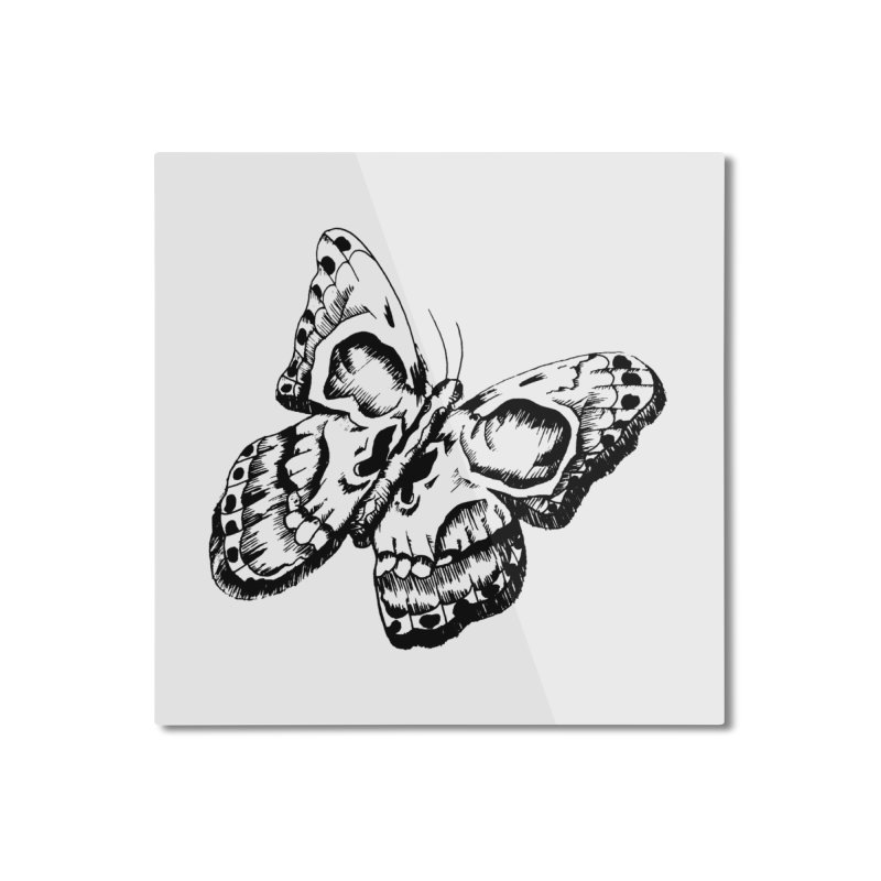 death flutterby Home Mounted Aluminum Print by joe's shop