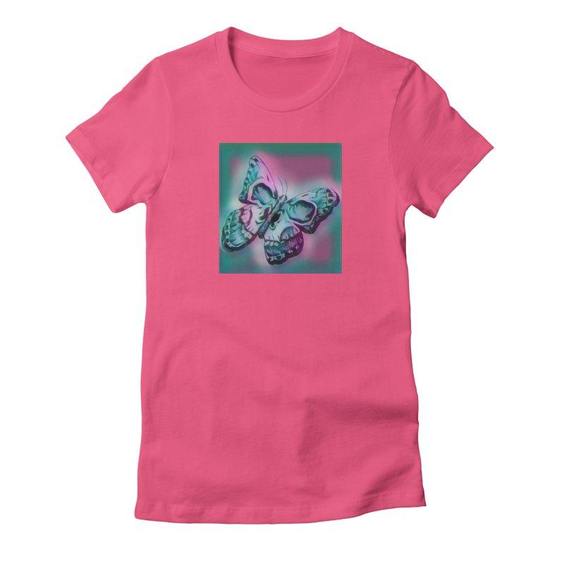 death moth Women's Fitted T-Shirt by joe's shop