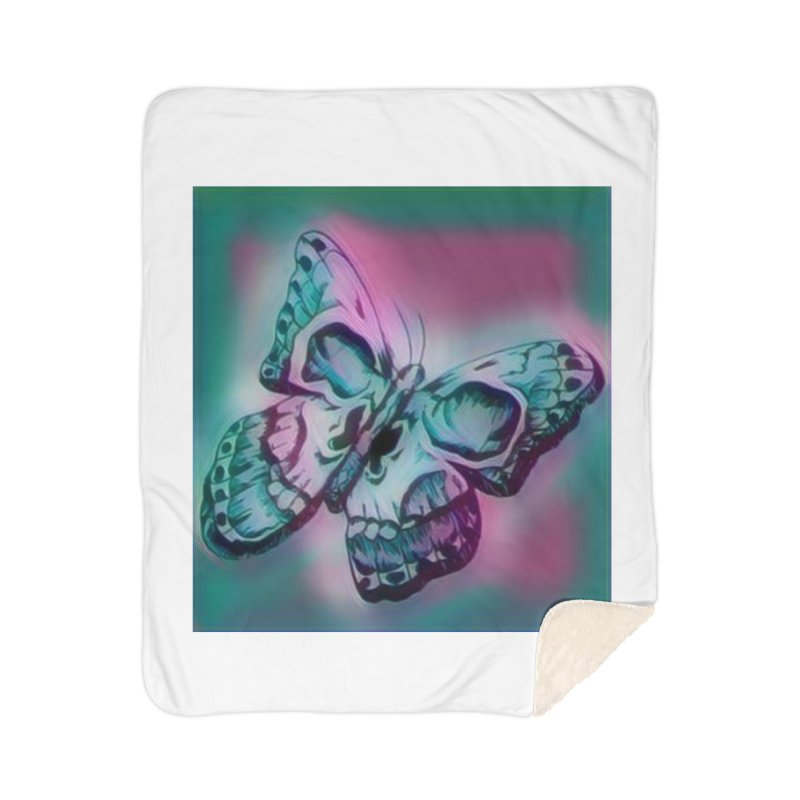 death moth Home Sherpa Blanket Blanket by joe's shop