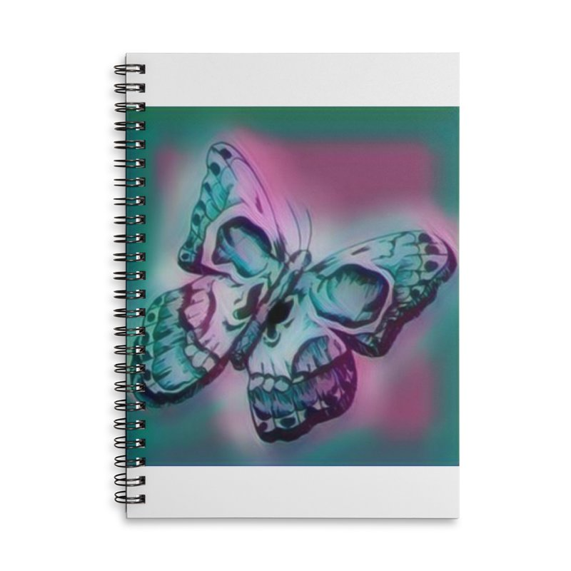 death moth Accessories Lined Spiral Notebook by joe's shop