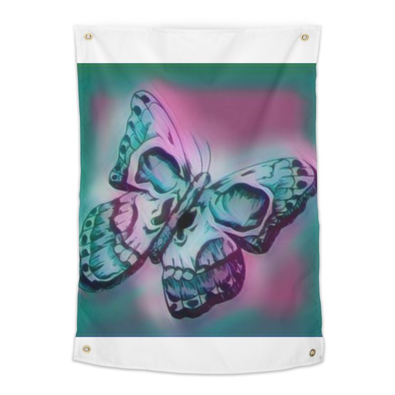 death moth Home Tapestry by joe's shop