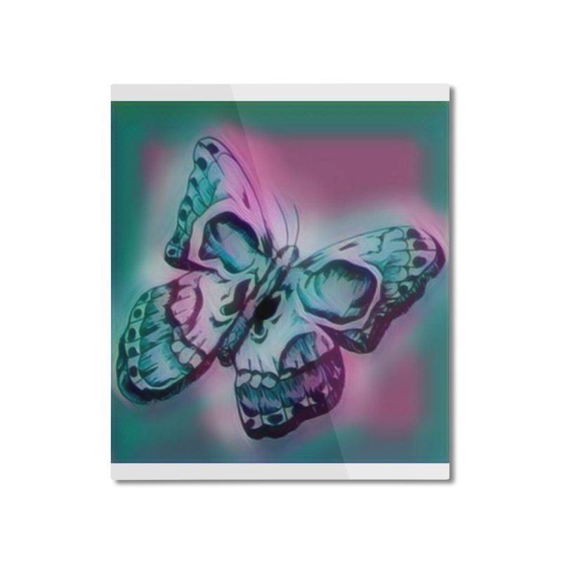 death moth Home Mounted Aluminum Print by joe's shop