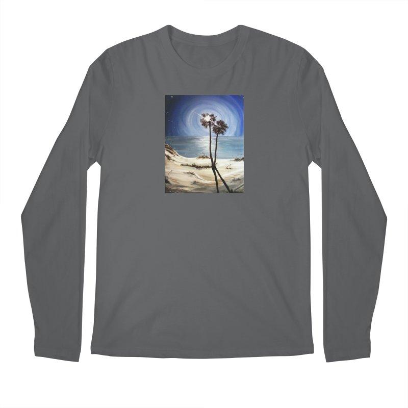two trees in the moonlight Men's Longsleeve T-Shirt by joe's shop