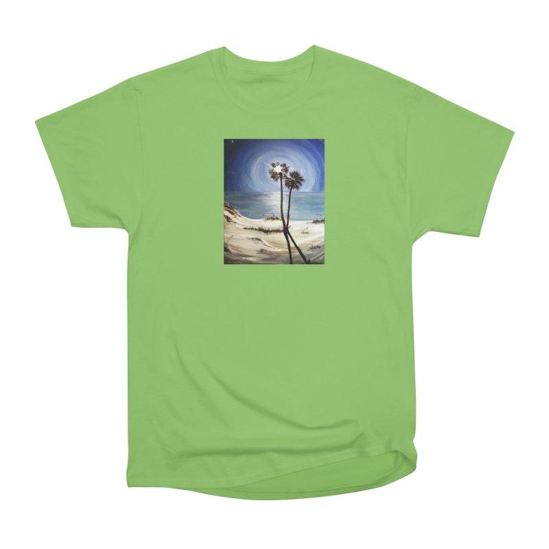 two trees in the moonlight Men's Heavyweight T-Shirt by joe's shop