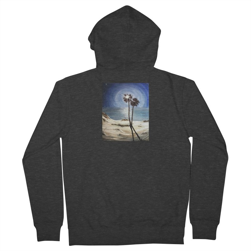 two trees in the moonlight Women's French Terry Zip-Up Hoody by joe's shop