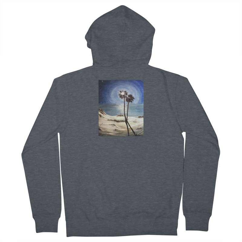 two trees in the moonlight Men's French Terry Zip-Up Hoody by joe's shop