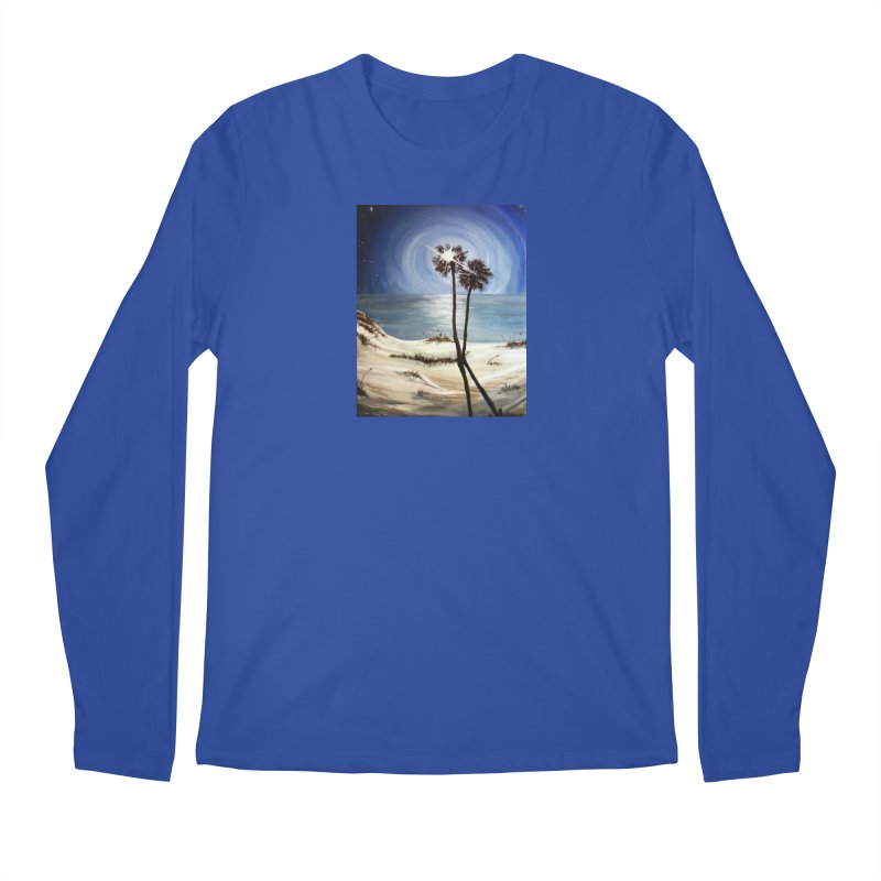 two trees in the moonlight Men's Regular Longsleeve T-Shirt by joe's shop
