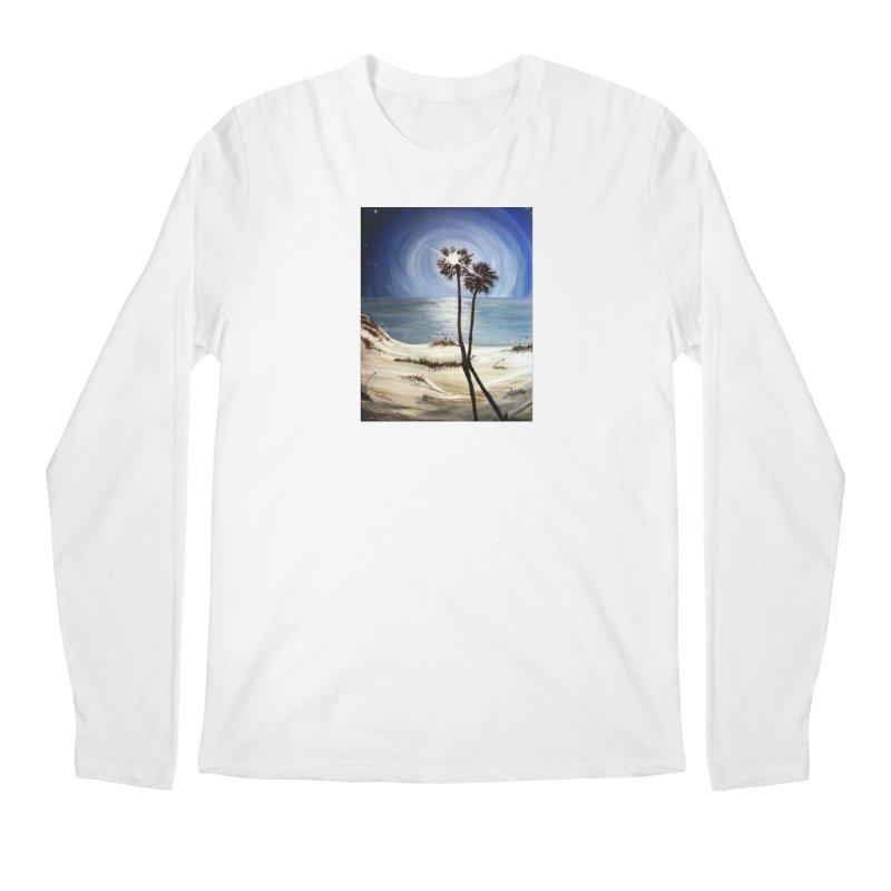 two trees in the moonlight Men's Regular Longsleeve T-Shirt by joe's shop