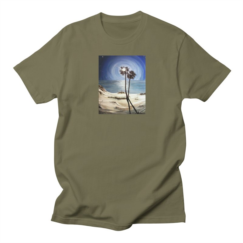 two trees in the moonlight Men's Regular T-Shirt by joe's shop