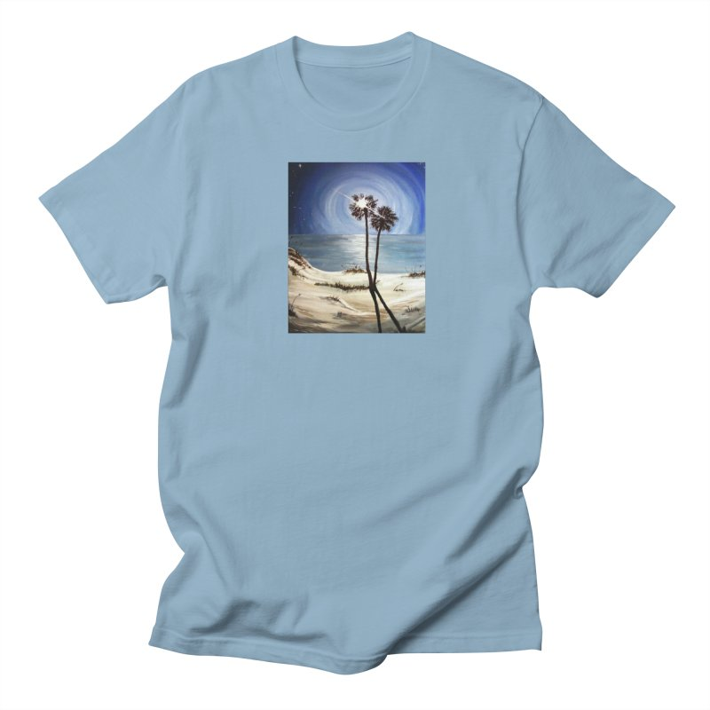 two trees in the moonlight Men's T-Shirt by joe's shop