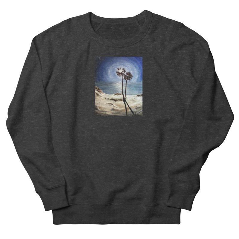 two trees in the moonlight Women's French Terry Sweatshirt by joe's shop