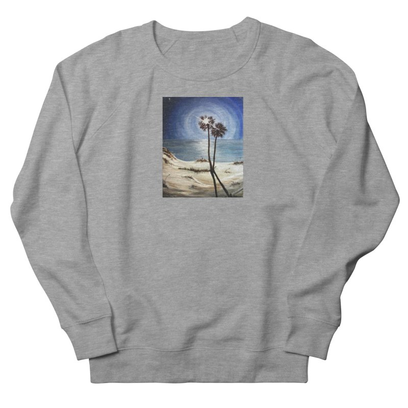 two trees in the moonlight Women's French Terry Sweatshirt by joe's shop