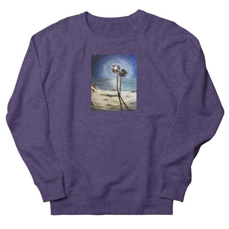 two trees in the moonlight Men's French Terry Sweatshirt by joe's shop