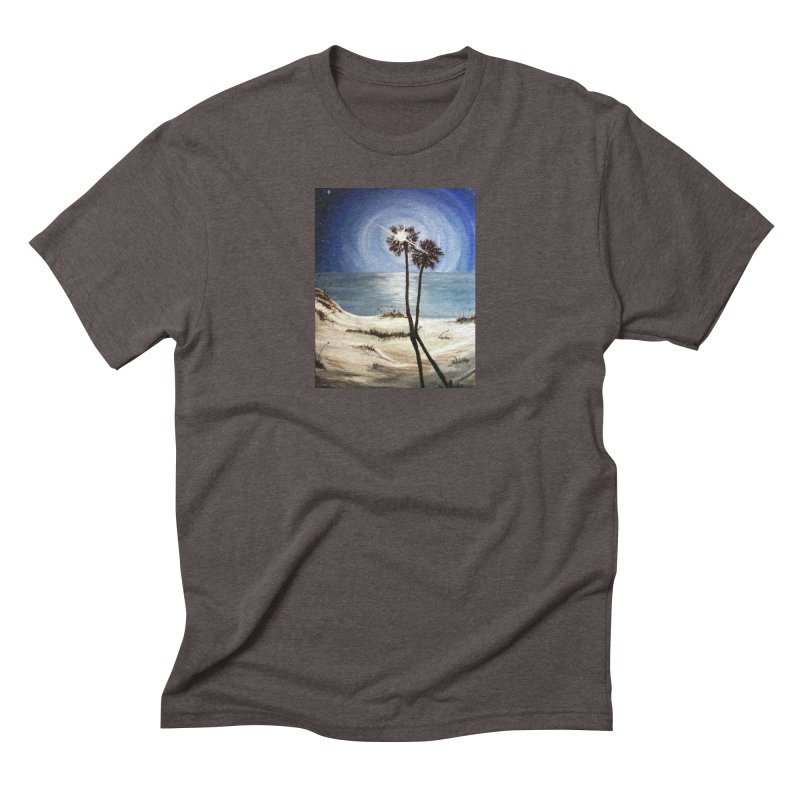two trees in the moonlight Men's Triblend T-Shirt by joe's shop