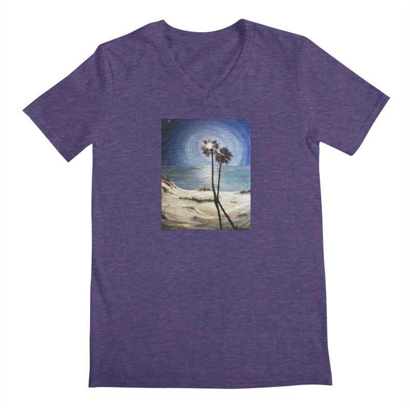 two trees in the moonlight Men's V-Neck by joe's shop