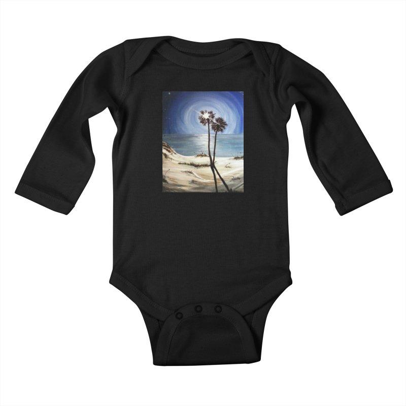 two trees in the moonlight Kids Baby Longsleeve Bodysuit by joe's shop