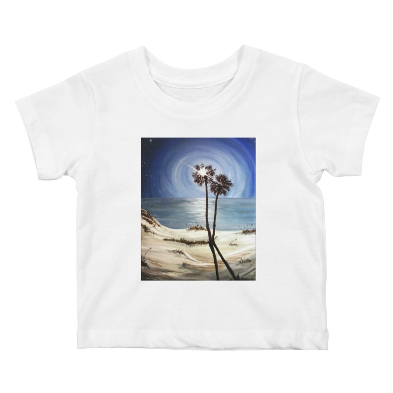 two trees in the moonlight Kids Baby T-Shirt by joe's shop