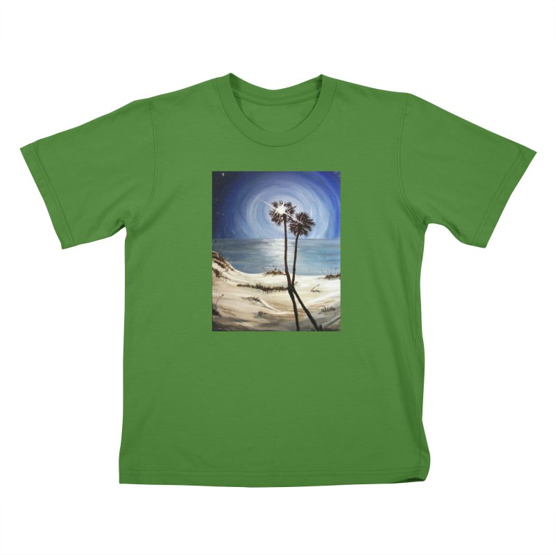 two trees in the moonlight Kids T-Shirt by joe's shop