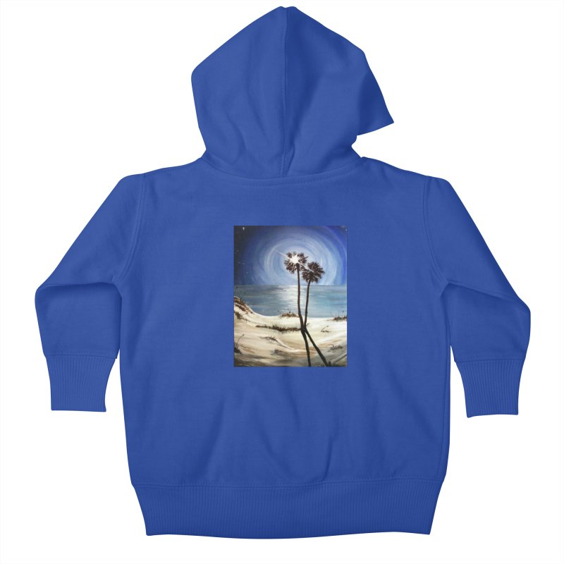 two trees in the moonlight Kids Baby Zip-Up Hoody by joe's shop