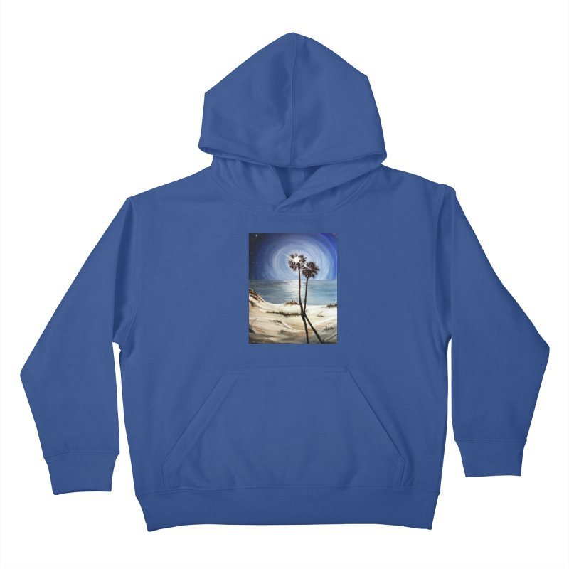 two trees in the moonlight Kids Pullover Hoody by joe's shop