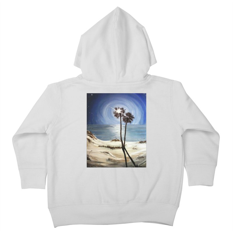 two trees in the moonlight Kids Toddler Zip-Up Hoody by joe's shop