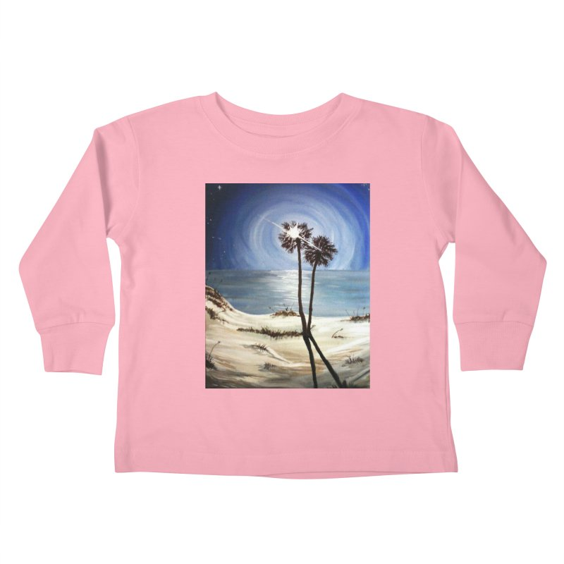 two trees in the moonlight Kids Toddler Longsleeve T-Shirt by joe's shop