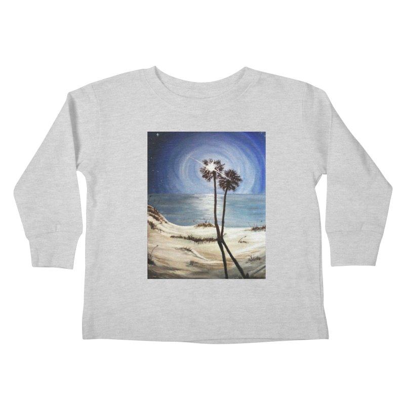 two trees in the moonlight Kids Toddler Longsleeve T-Shirt by joe's shop