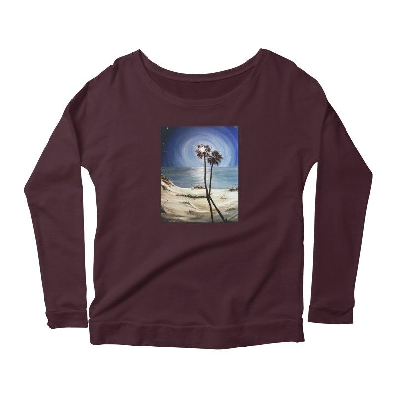 two trees in the moonlight Women's Scoop Neck Longsleeve T-Shirt by joe's shop