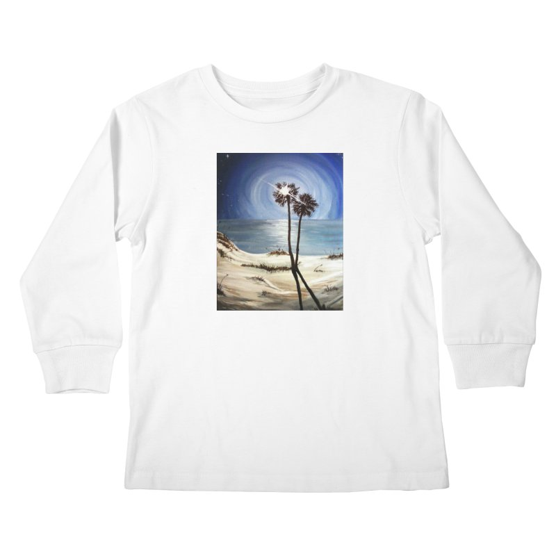 two trees in the moonlight Kids Longsleeve T-Shirt by joe's shop