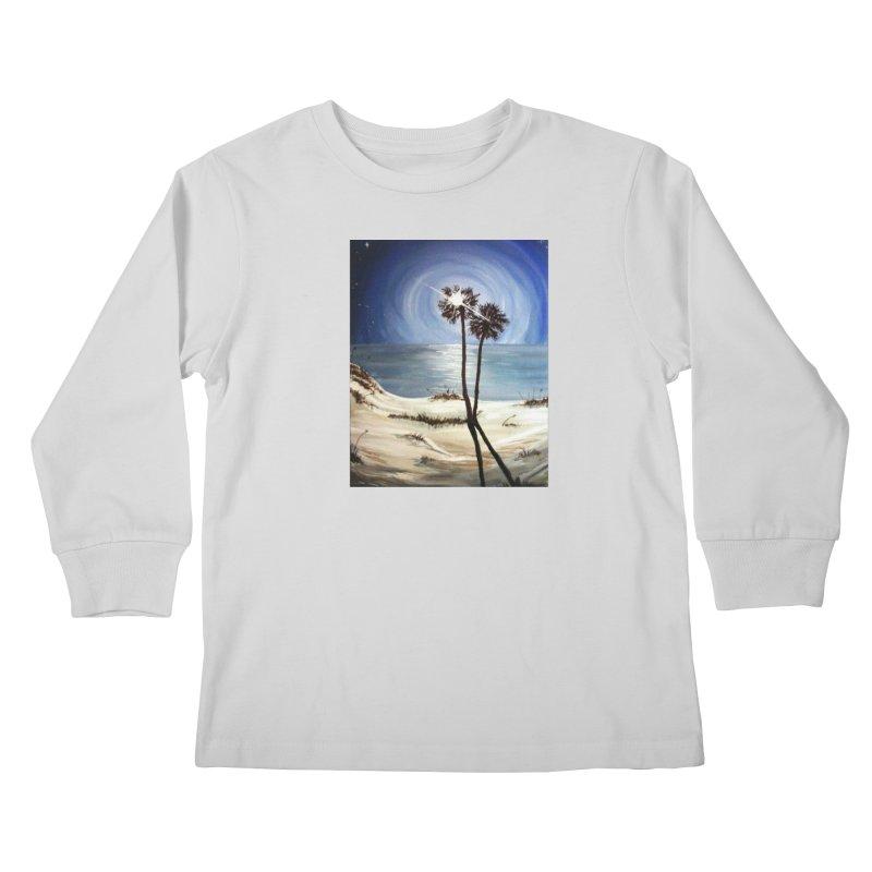 two trees in the moonlight Kids Longsleeve T-Shirt by joe's shop