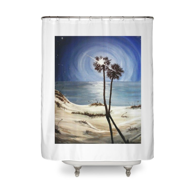 two trees in the moonlight Home Shower Curtain by joe's shop