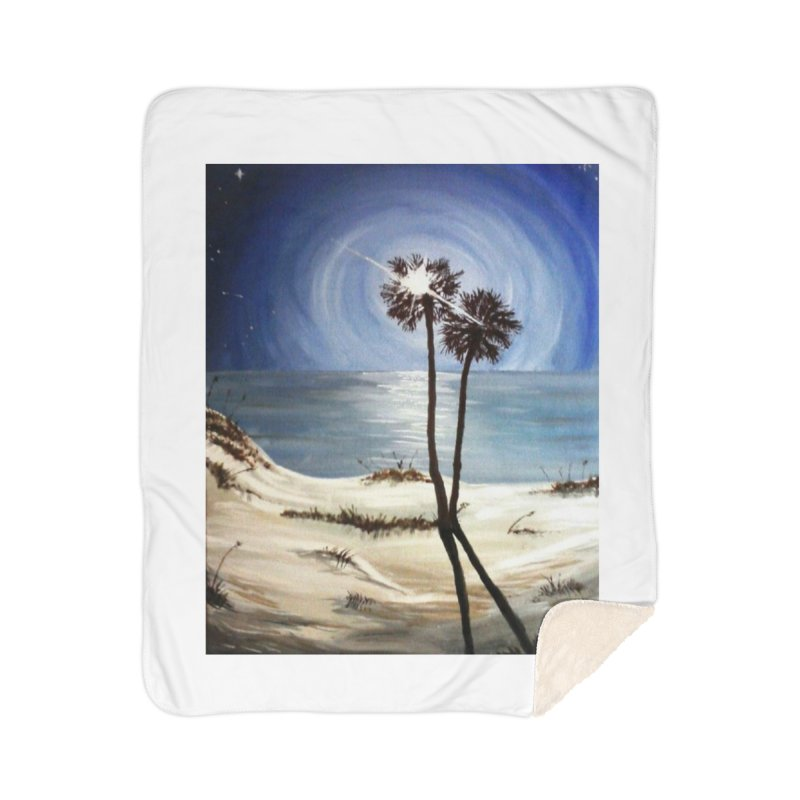 two trees in the moonlight Home Sherpa Blanket Blanket by joe's shop