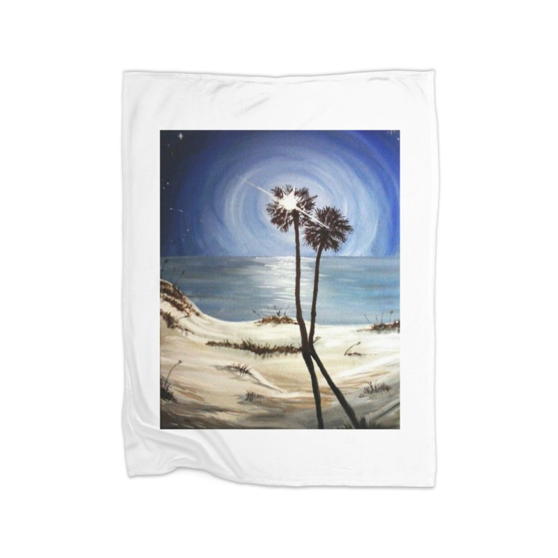 two trees in the moonlight Home Blanket by joe's shop