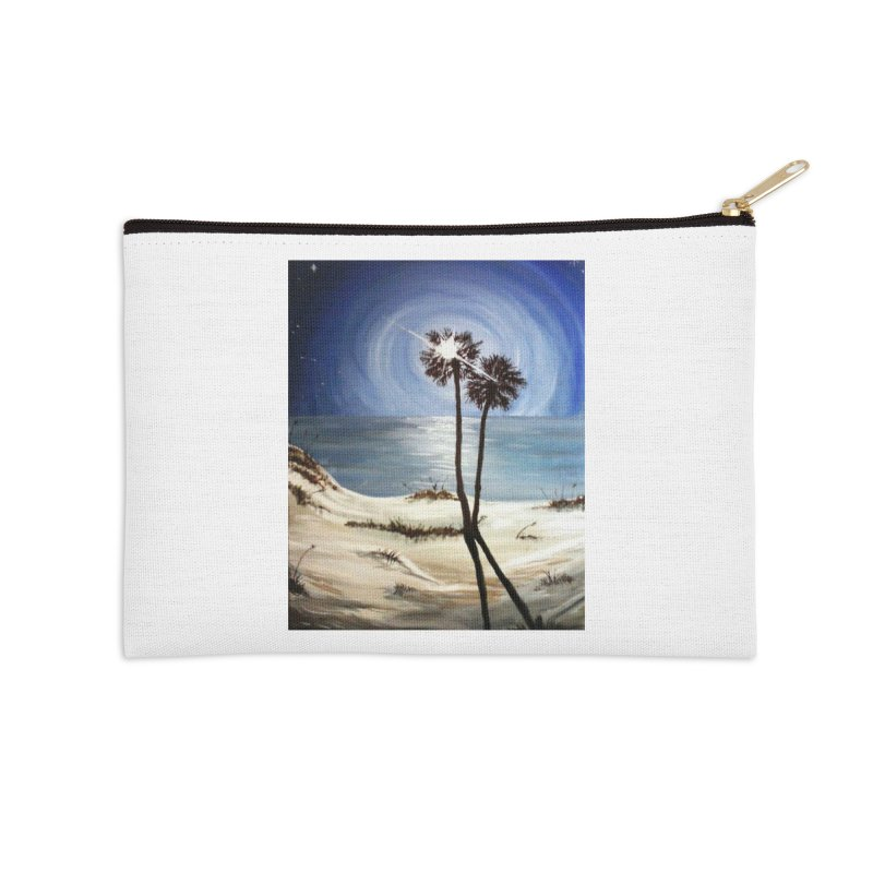 two trees in the moonlight Accessories Zip Pouch by joe's shop