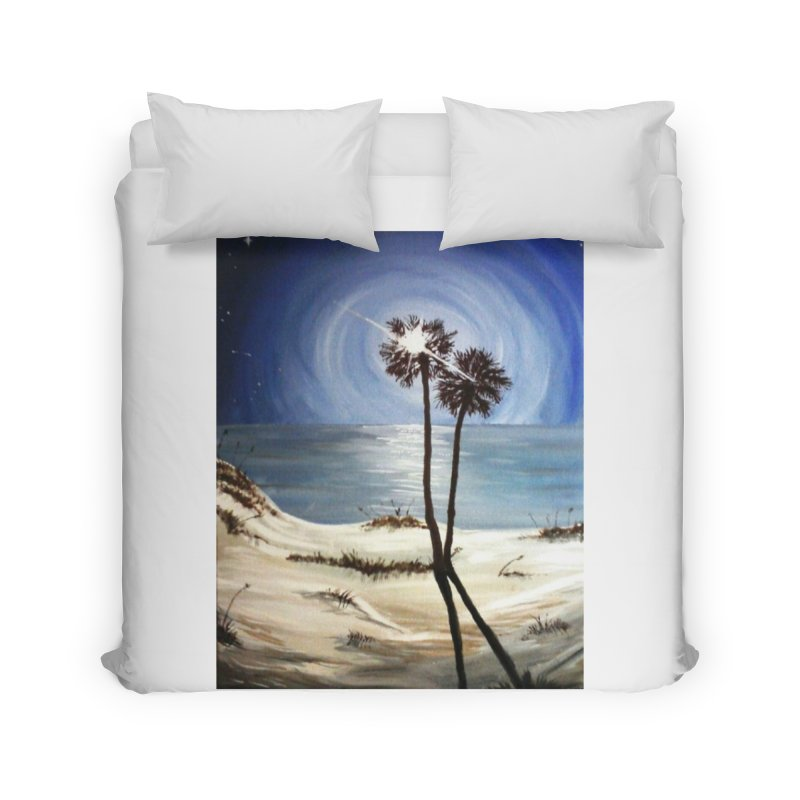 two trees in the moonlight Home Duvet by joe's shop