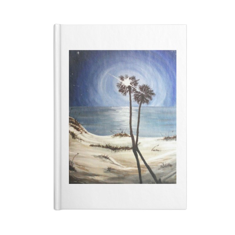two trees in the moonlight Accessories Lined Journal Notebook by joe's shop
