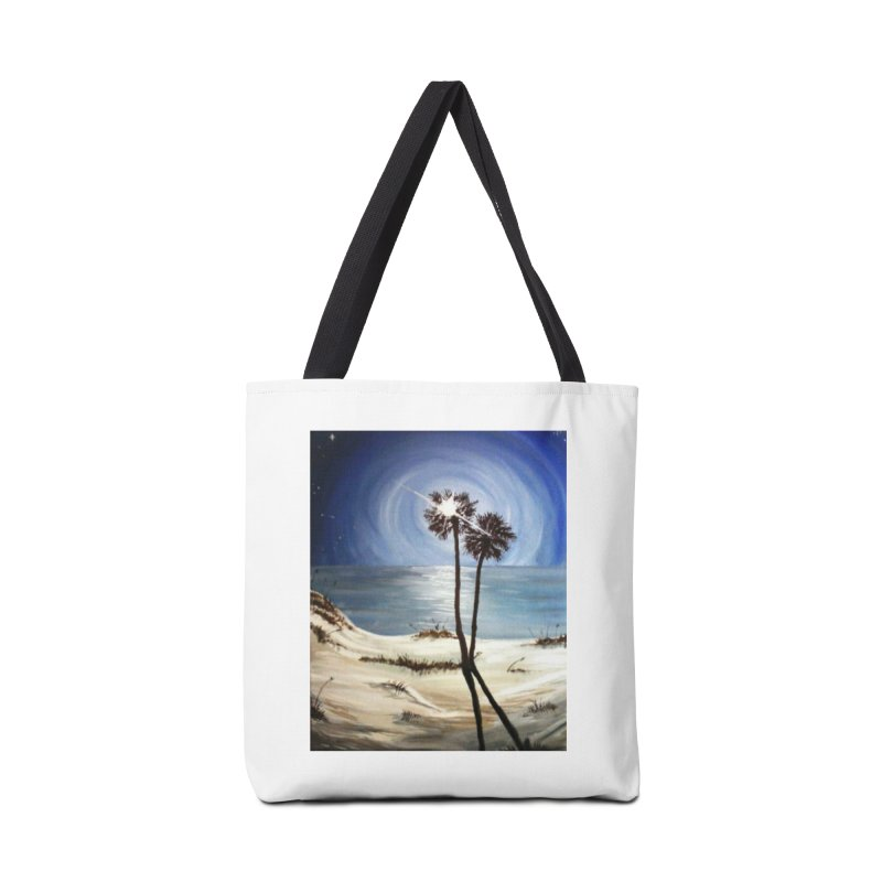 two trees in the moonlight Accessories Tote Bag Bag by joe's shop