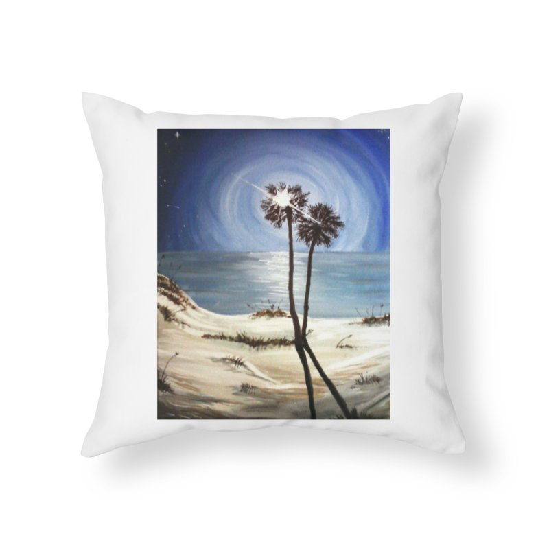 two trees in the moonlight Home Throw Pillow by joe's shop