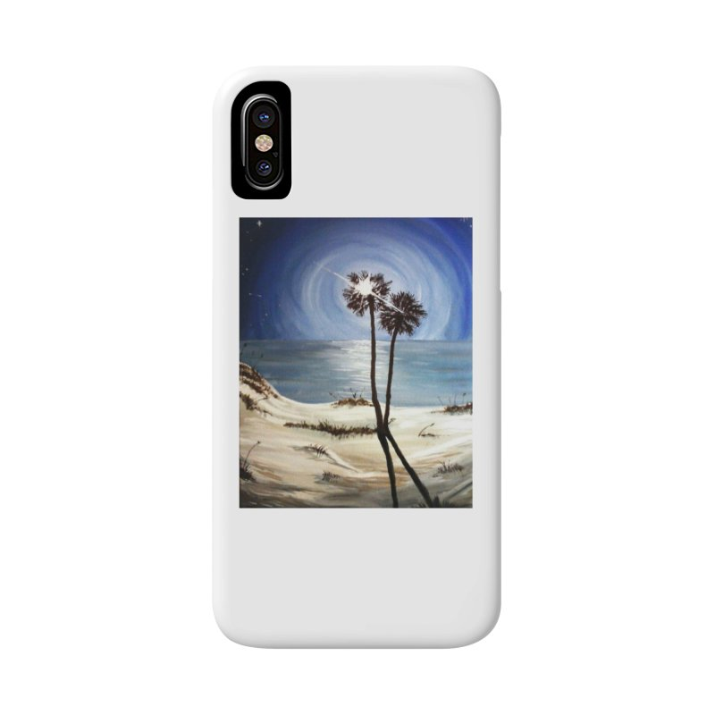 two trees in the moonlight Accessories Phone Case by joe's shop