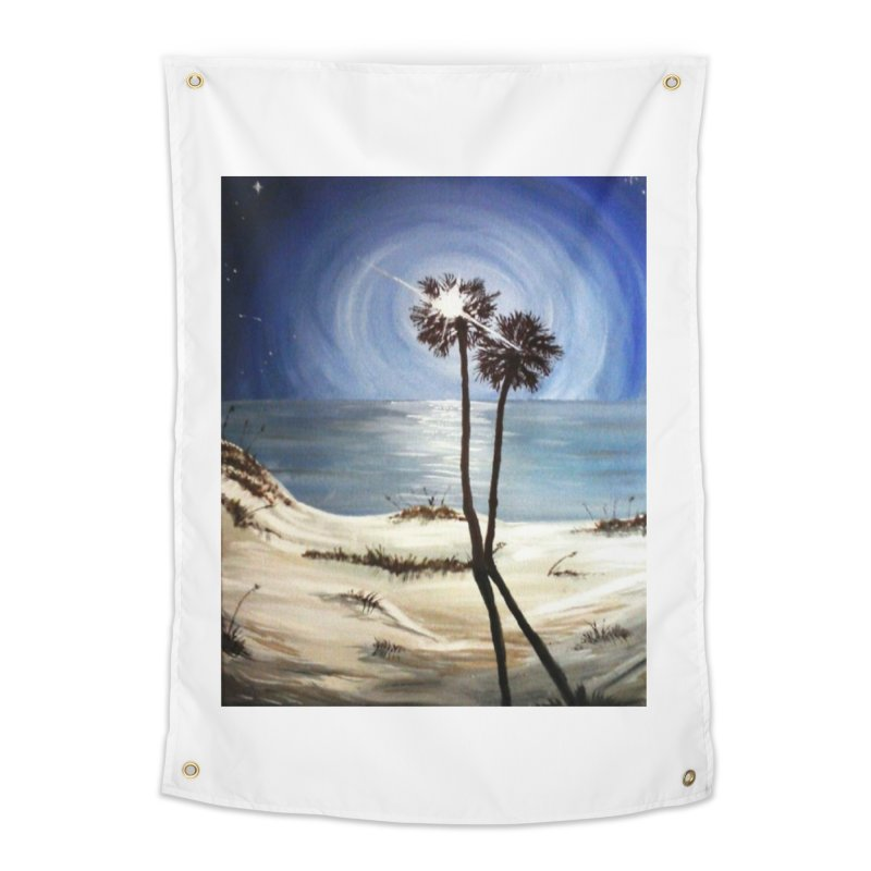 two trees in the moonlight Home Tapestry by joe's shop