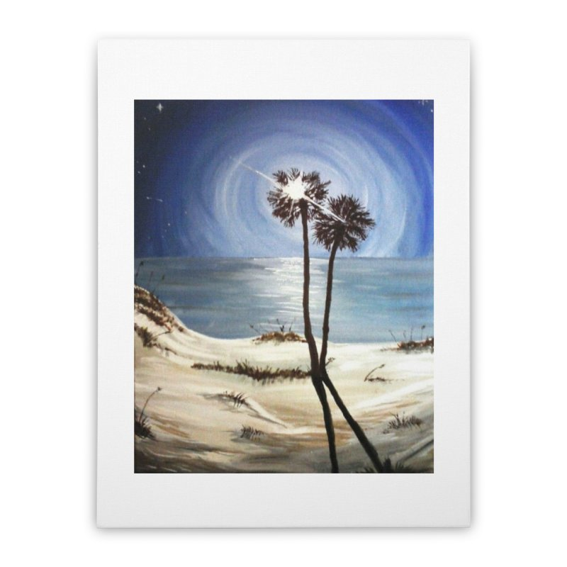two trees in the moonlight Home Stretched Canvas by joe's shop