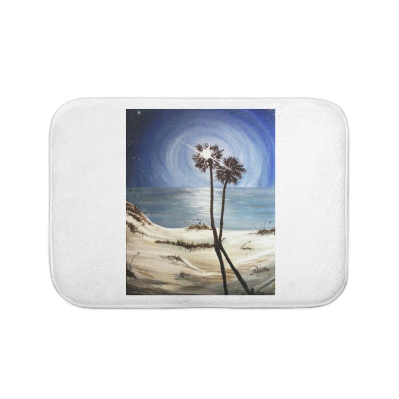 two trees in the moonlight Home Bath Mat by joe's shop