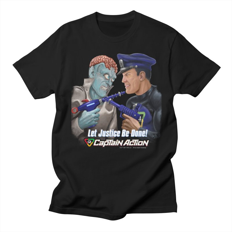 CAPTAIN ACTION   Let Justice Be Done! Men's T-Shirt by joegparotee's Artist Shop