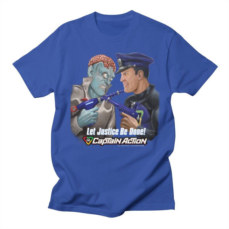 CAPTAIN ACTION   Let Justice Be Done! Men's  by joegparotee's Artist Shop