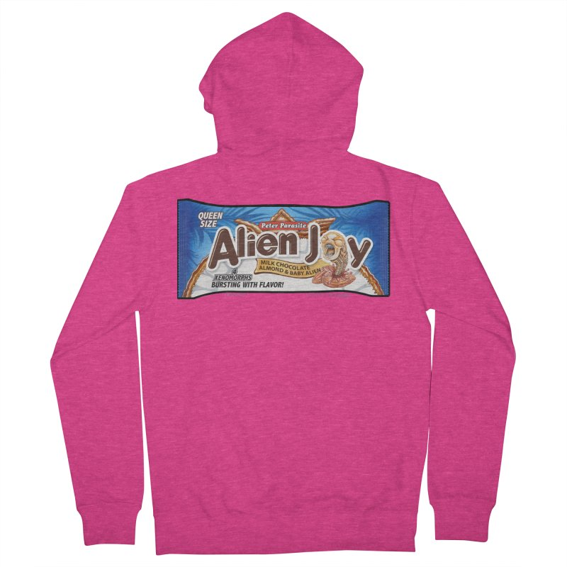ALIEN JOY Candy Bar - Bursting with Flavor! Women's French Terry Zip-Up Hoody by joegparotee's Artist Shop